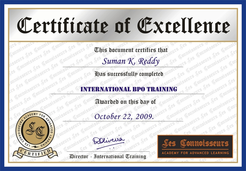 SAMPLE CERTIFICATE - CORPORATE DIMENSION BUSINESS ...